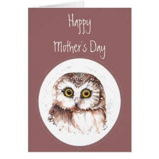 De madre del día del búho amor siempre usted, humo tarjetas