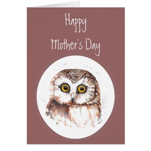 De madre del día del búho amor siempre usted, humo tarjeta de felicitación