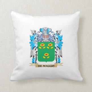 De-Maggio Coat of Arms - Family Crest Throw Pillows