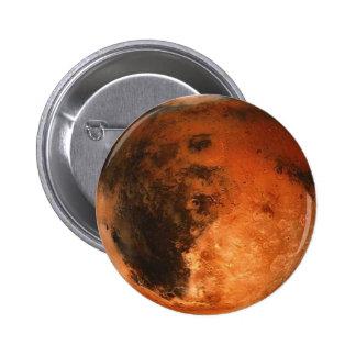 ~ de MARTE del PLANETA (Sistema Solar) Pin Redondo De 2 Pulgadas