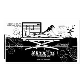 Dé masajes a la tarjeta de visita del salón/del