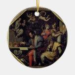 De Medici (1519-74) de Cosimo I que planea los Adorno Navideño Redondo De Cerámica