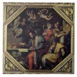 De Medici (1519-74) de Cosimo I que planea los con Azulejo Cuadrado Grande