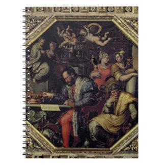 De Medici (1519-74) de Cosimo I que planea los con Libro De Apuntes Con Espiral