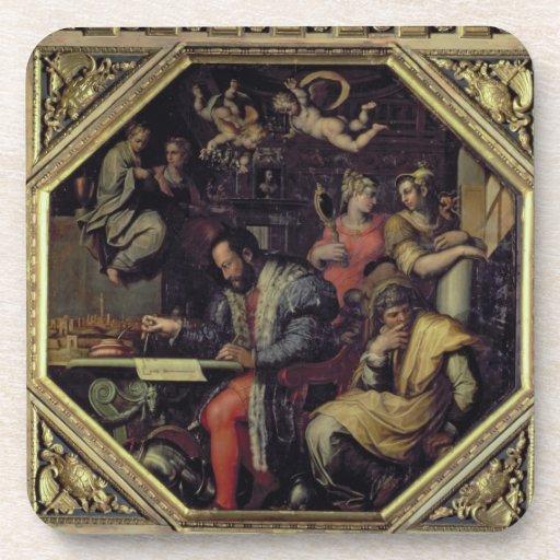 De Medici (1519-74) de Cosimo I que planea los con Posavasos