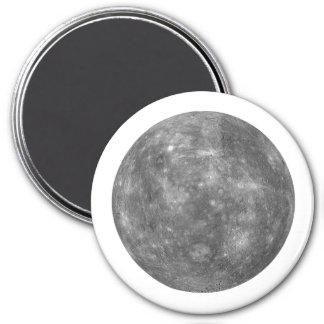 ~~ de MERCURY del PLANETA (Sistema Solar) Imán Redondo 7 Cm