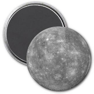 ~ de MERCURY del PLANETA (Sistema Solar) Imán Redondo 7 Cm