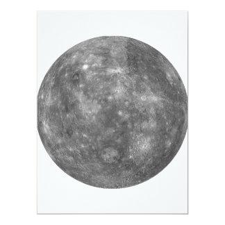 """~ de MERCURY del PLANETA (Sistema Solar) Invitación 6.5"""" X 8.75"""""""