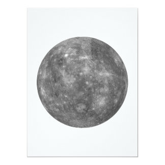 """~~ de MERCURY del PLANETA (Sistema Solar) Invitación 6.5"""" X 8.75"""""""