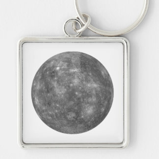 ~~ de MERCURY del PLANETA (Sistema Solar) Llavero Cuadrado Plateado