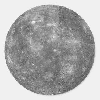 ~ de MERCURY del PLANETA (Sistema Solar) Pegatina Redonda