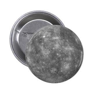 ~ de MERCURY del PLANETA (Sistema Solar) Pin Redondo 5 Cm