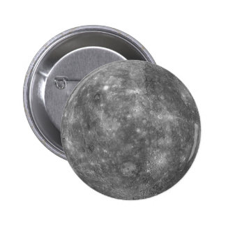 ~ de MERCURY del PLANETA (Sistema Solar) Pin Redondo De 2 Pulgadas