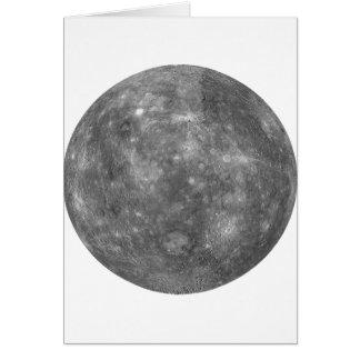 ~ de MERCURY del PLANETA (Sistema Solar) Tarjeta De Felicitación