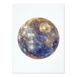 """~~ de MERCURY v2 (Sistema Solar) del PLANETA Invitación 6.5"""" X 8.75"""""""