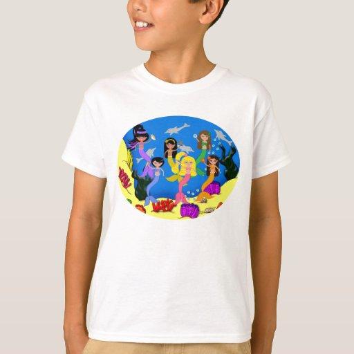 De Merpeople camiseta de alrededor del mundo Remeras