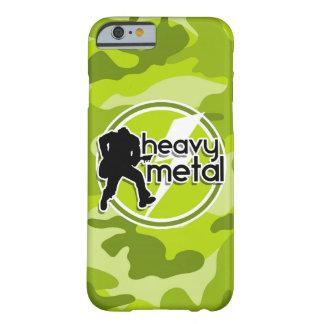 De metales pesados; camo verde claro, camuflaje funda de iPhone 6 barely there