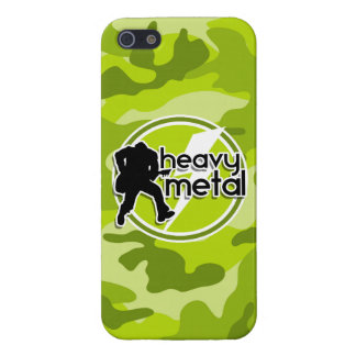 De metales pesados; camo verde claro, camuflaje iPhone 5 cárcasa