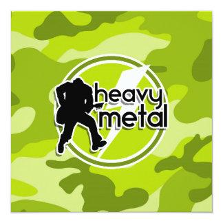 De metales pesados; camo verde claro, camuflaje anuncio personalizado