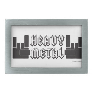 ¡De metales pesados! Hebilla Cinturón Rectangular