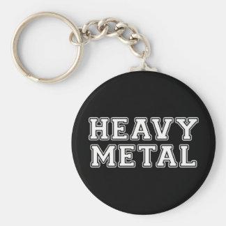 De metales pesados llavero redondo tipo pin