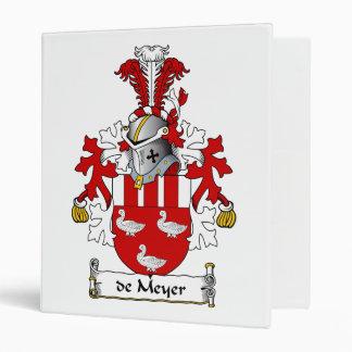 de Meyer Family Crest 3 Ring Binder