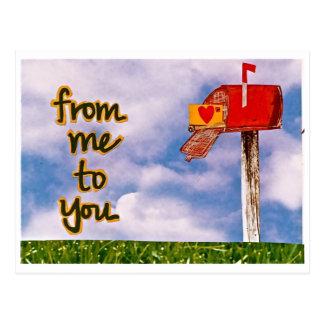 de mí a usted tarjeta postal