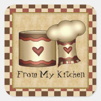 De mi pegatina de la diversión de la cocina