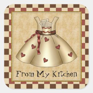 De mi pegatina del dibujo animado de la cocina