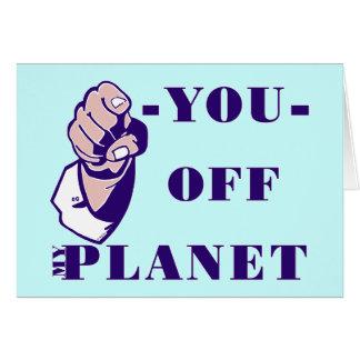 De mi planeta tarjeta de felicitación