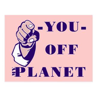 De mi planeta tarjeta postal