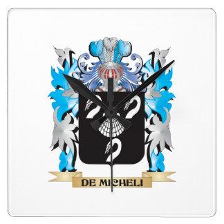 De-Micheli Coat of Arms - Family Crest Wall Clock