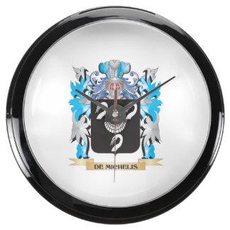 De-Michelis Coat of Arms - Family Crest Aquavista Clock