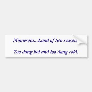 De Minnesota pegatina para el parachoques caliente Pegatina Para Auto