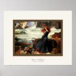 ~ de Miranda el ~ Juan W. Waterhouse de la tempest Poster