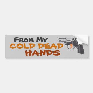De mis manos muertas frías etiqueta de parachoque