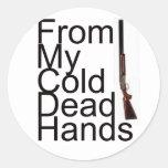 De mis manos muertas frías etiquetas