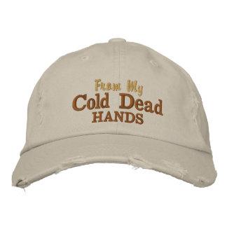 De mis manos muertas frías gorra de béisbol bordada