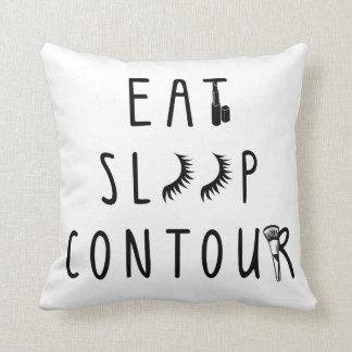 de moda coma la almohada con clase del contorno