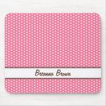 De moda conocido personalizada lunares rosados ele alfombrillas de ratones