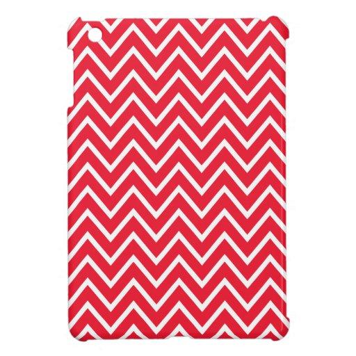 De moda elegante del zigzag del modelo rojo del ga iPad mini cárcasa