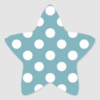 De moda femenino azul claro del modelo de lunar pegatina en forma de estrella