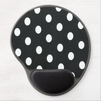 De moda femenino negro y blanco del modelo de luna alfombrillas de raton con gel