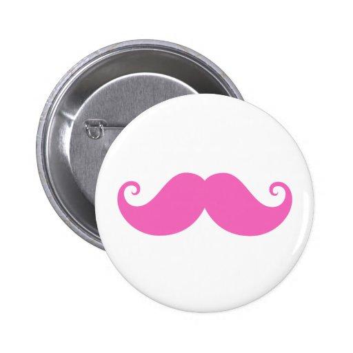 De moda lindo del bigote divertido rosado del mani pins