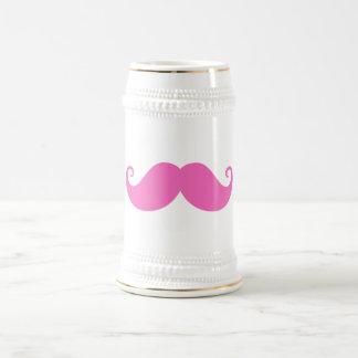 De moda lindo del bigote divertido rosado del mani tazas de café
