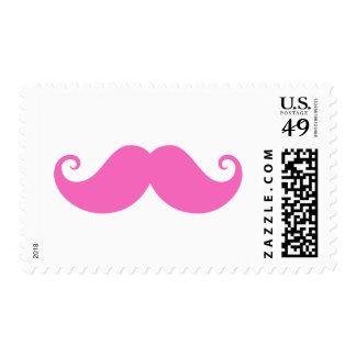 De moda lindo del bigote divertido rosado del sellos