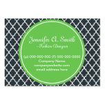 de moda, precioso, clásico, verde, quatrefoil de tarjetas de visita