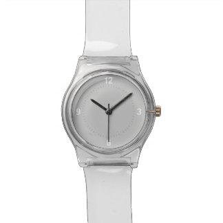De moda reloj hecho frente gris