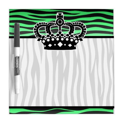 de moda un estampado de zebra del verde esmeralda pizarras blancas de calidad