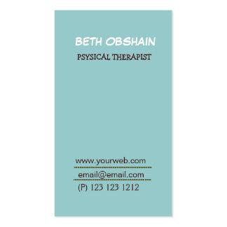 De moda único en azul de la espuma tarjetas de visita